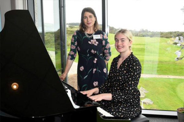 One of the island's promising talents in classical music has been given a helping hand as she embarks on her further studies.