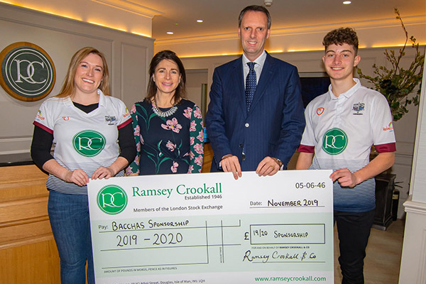 Ramsey Crookall renews sponsorship of Cronkbourne Bacchanalians Hockey Club for the next three years.